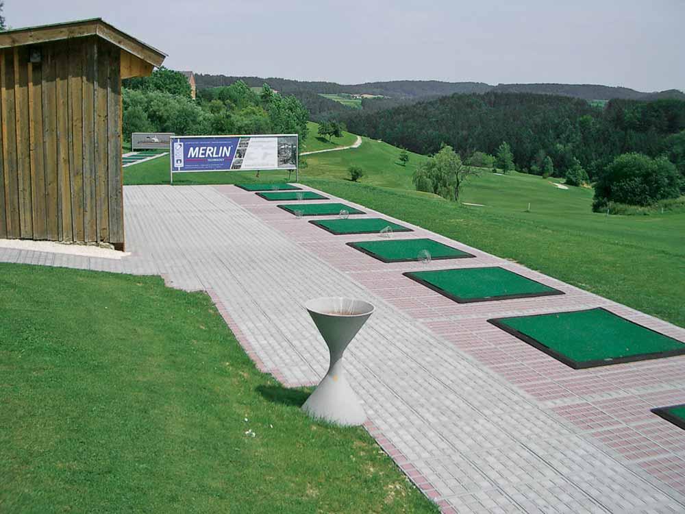 stabilt underlag vid golfbana och driving range