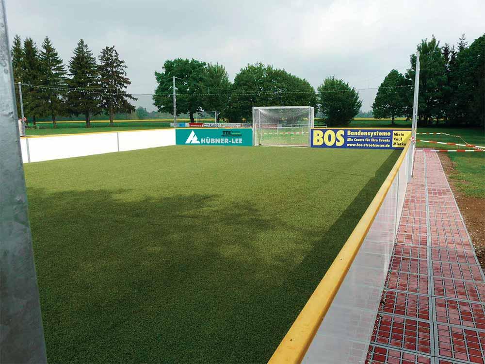 stabiliserande yta under fotbollsplaner