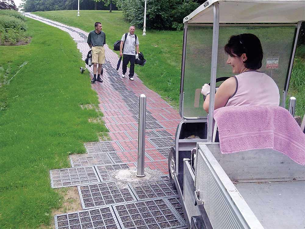 stabila vägar för golfbil och golfvagn