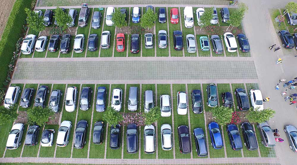 markläggning vid parkeringar